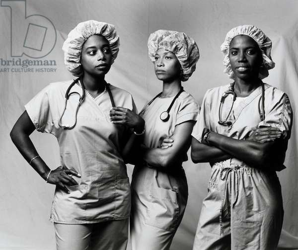 Doctors Karen Ambrose, Paula A. McKenzy and Deborah Arrindell, 1990 (gelatin silver photograph)