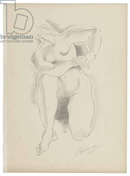 Untitled IX, c. 1921-1923 (graphite on paper)