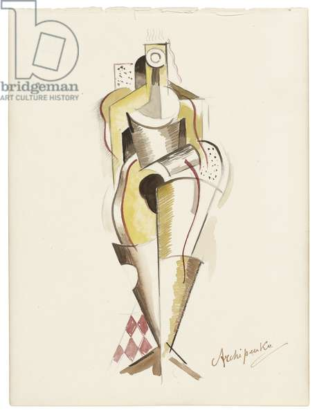 Women XIII, c. 1921-1923 (watercolour, graphite, and pencil on paper)