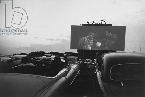 Drive-in Movie, Detroit, 1955 (gelatin silver print)