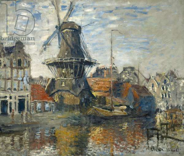 The Windmill, Amsterdam, 1871 (oil on canvas)