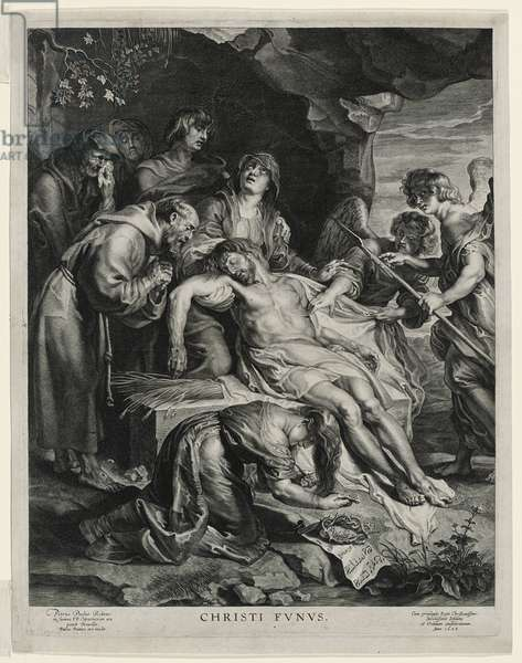 The Dead Christ on the Virgin's Knees, engraved by Paulus Pontius, 1628 (engraving on laid paper)