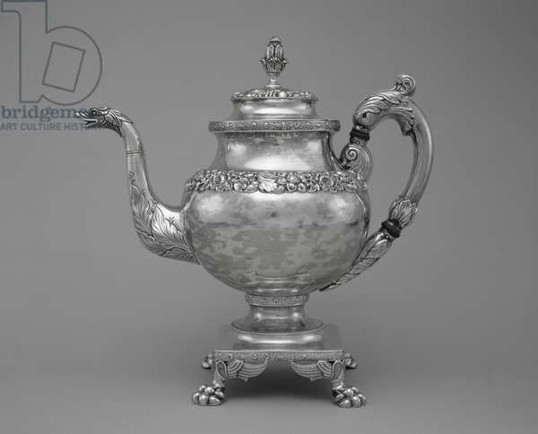 Coffeepot, part of a tea and coffee service, 1824-27 (silver)