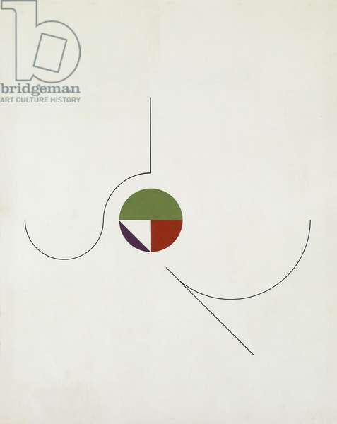 Tema circular 1, 1956 (oil on hardboard)