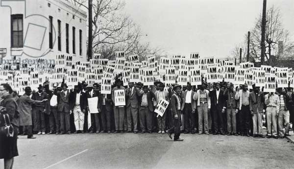 I Am A Man, Sanitation Workers Strike, Memphis, Tennessee, March 28, 1968, printed 1994 (gelatin silver print)