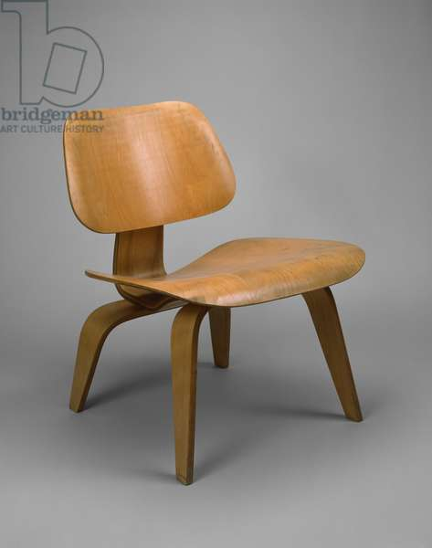 LCW Lounge Chair, 1945-46, (birch-faced plywood and rubber)