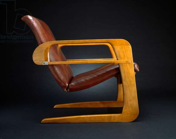 Airline Chair, 1934 (rock maple wood and oil cloth)