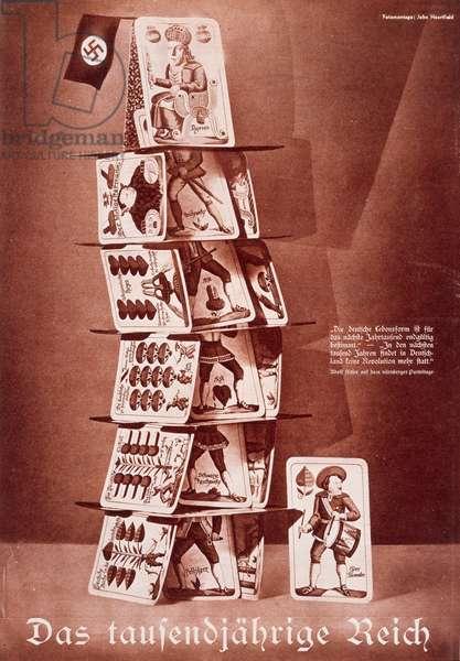 The Thousand Year Reich, from Die Arbeiter-Illustriete-Zeitung XIII:38, 1934 (rotogravure on newsprint from original photomontage)