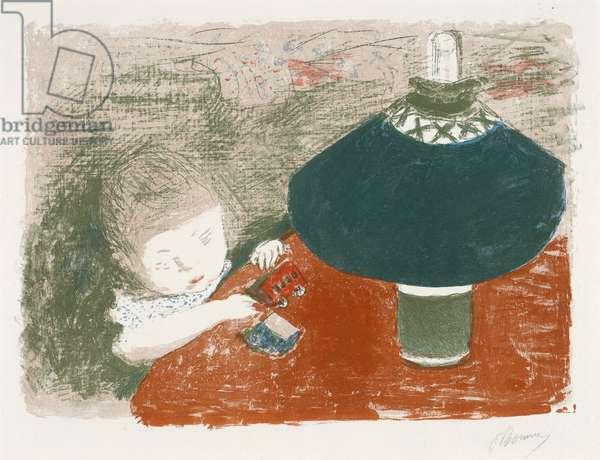 L'Enfant… la Lampe, 1897 (colour litho)