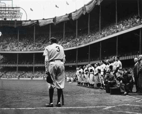 Babe Ruth Bows Out, June 13, 1948 (gelatin silver print)