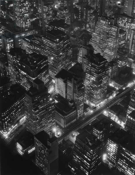 Nightview, New York, 1932, printed c.1980 (gelatin silver print)