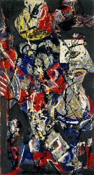 Moon Vessel, c.1945 (oil & enamel on canvas mounted on board)