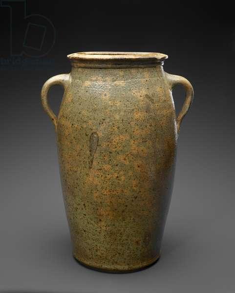 Churn, c. 1875 (alkaline-glazed stoneware)