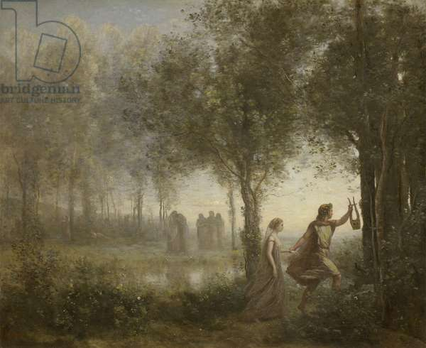 Orpheus Leading Eurydice from the Underworld, 1861 (oil on canvas)