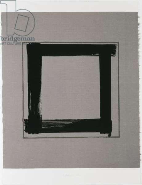 Untitled II, 1983 (screenprint on Japanese handmade paper)