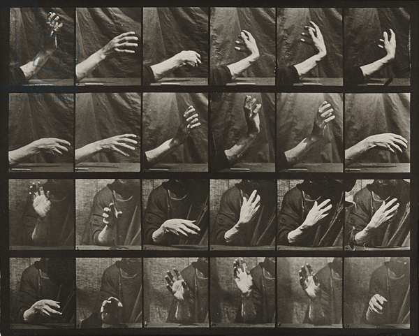 Movement of the hand; beating time, 1887 (collotype)