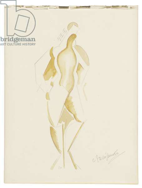 Women XII, c. 1921-1923 (watercolour, graphite, and pencil on paper)