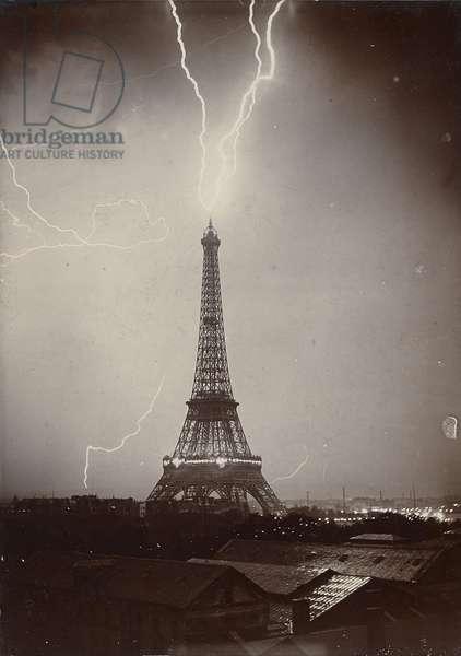 The Eiffel Tower Struck by Lightning, 1902 (gelatin silver print)
