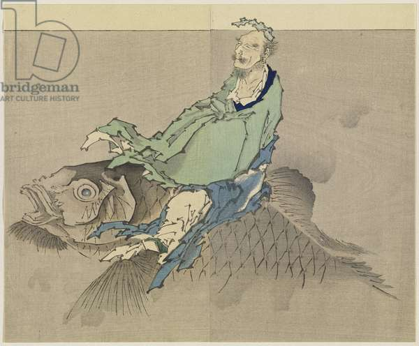 Untitled, 1890 (woodblock print, ink and colour on paper)