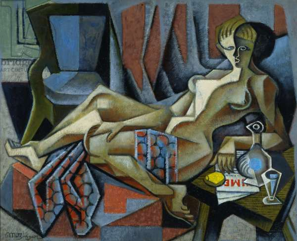 Woman with Grapes, c.1916-17 (oil on canvas)