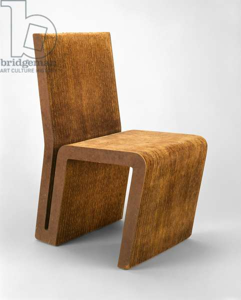 Working Prototype for Easy Edges Dining Chair, designed Frank Gehry (b.1929), Robert Irwin (b.1928) and Jack Brogan (b.1930) c.1970-72 (corrugated box material and pressed fibre)