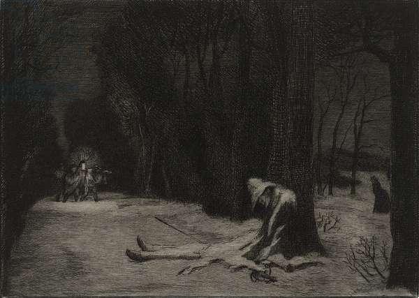 La Mort de Matamore (etching)