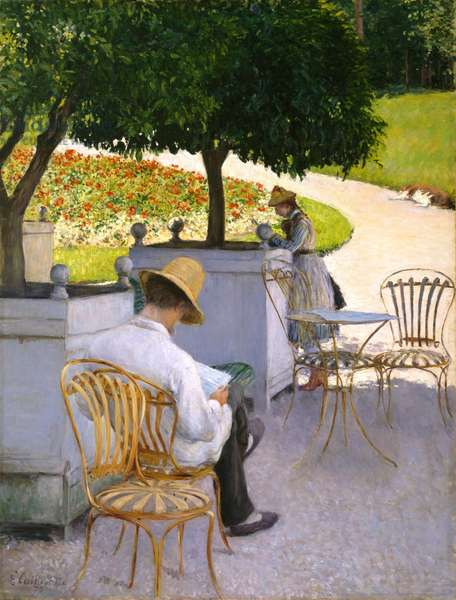 The Orange Trees or The Artist's Brother in His Garden, 1878 (oil on canvas)