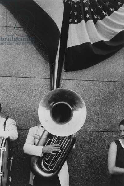 Political Rally, Chicago, 1956 (gelatin silver print)