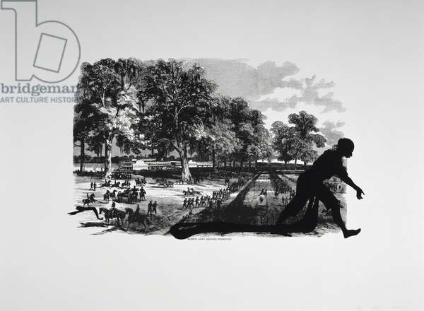 Harper's Pictorial History of the Civil War (Annotated):  Banks's Army Leaving Simmsport, 2005 (lithograph and screenprint)