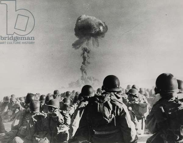 Operation Buster-Jangle - Dog Test, Desert Rock I, Nevada Nuclear Test Site, November 1, 1951 (gelatin silver print)