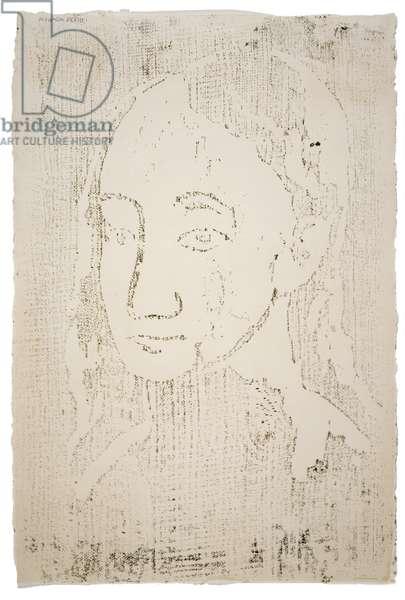 Buste de jeune femme de trois quarts, 1906, printed 1933 (woodcut)