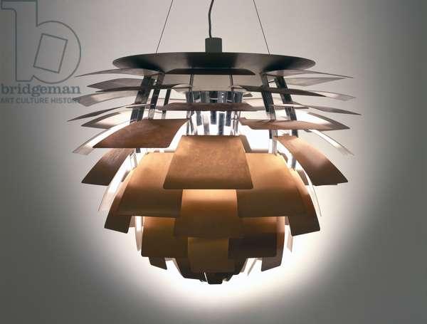 """""""PH Artichoke"""" Lamp, 1958 (copper, steel & enameled metal)"""
