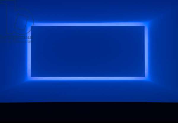 Rondo (Blue) from the series Shallow Spaces, 1969 (neon light)