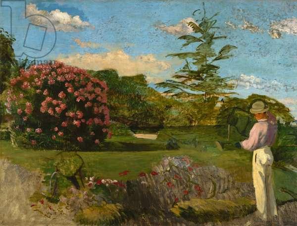 The Little Gardener, c.1866-67 (oil on canvas)