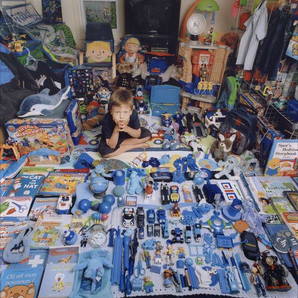 Terry and His Blue Things, 2005 (chromogenic print, edition 3/10)