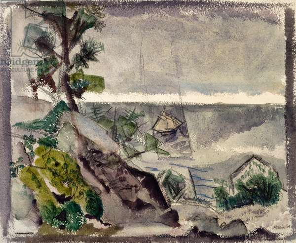 The Little Sailboat, 1924 (w/c and charcoal on paper)