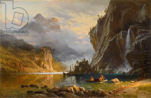 Indians Spear Fishing, 1862 (oil on canvas)