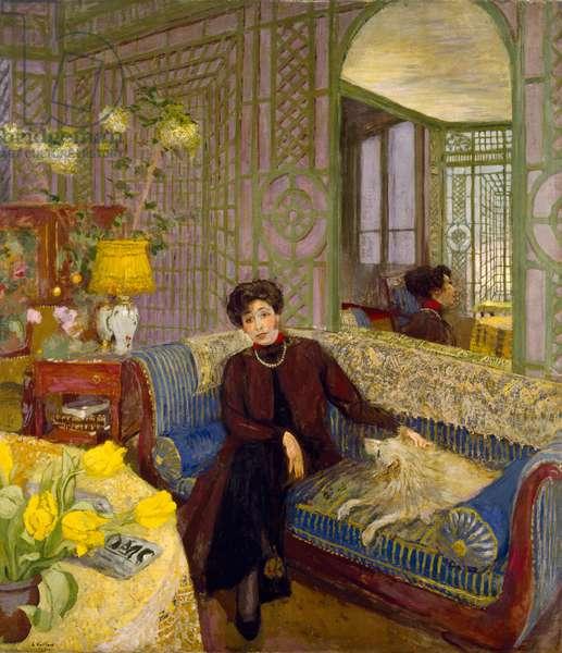 Portrait of Marcelle Aron, wife of Tristan Bernard (1866-1947) 1914 (oil on canvas)