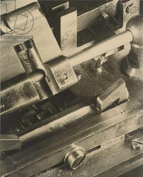 Oboe Reed Gouging Machine, Philadelphia, 1934-35 (gelatin silver print)