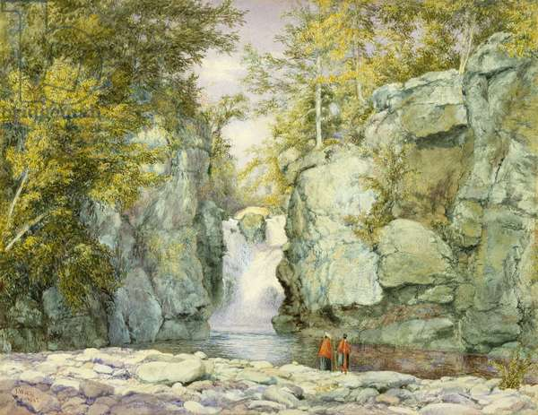 Fawn's Leap, Catskill Mountains, 1867 (w/c on paper)
