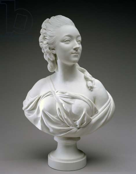 Bust of Madame du Barry, after Augustin Pajou, c.1771-73 (soft-paste porcelain)