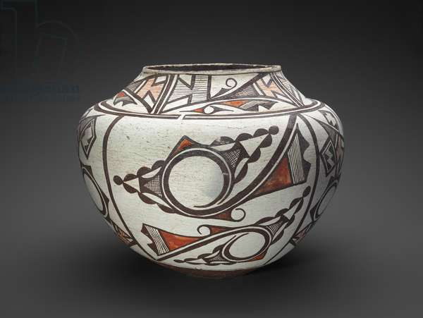Jar (Olla) with Geometric and Abstract Designs, 1885-1890 (earthenware with slip)
