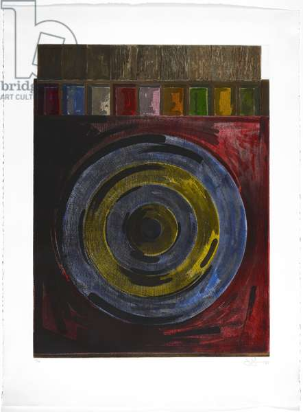 Target with Plaster Casts, 1980 (hardground etching & aquatint in colors)