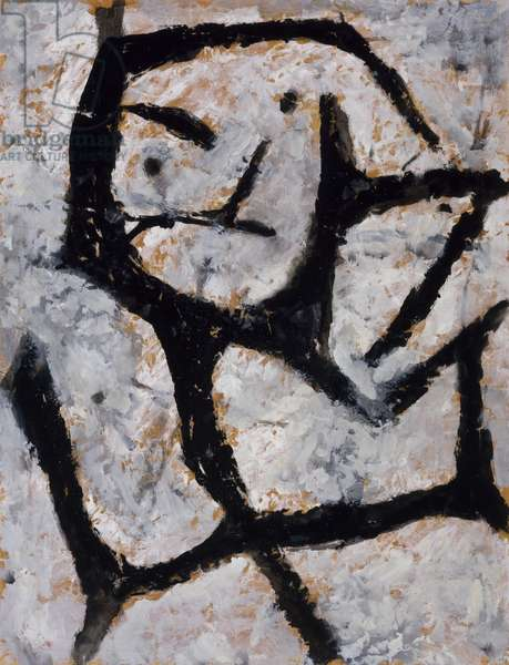 Untitled, c.1950 (gouache on brown paper)
