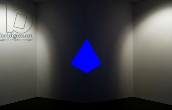 Raethro II, Blue: Cross Corner Construction, 1970 (neon light)