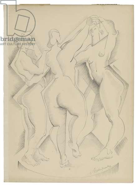 Untitled I, c. 1921-1923 (graphite on paper)