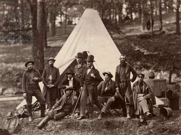 Group of Guides for the Army of the Potomac, 1862 (albumen print)