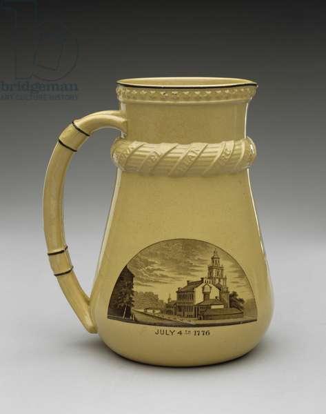 Pitcher, 1874 (lead-glazed earthenware)