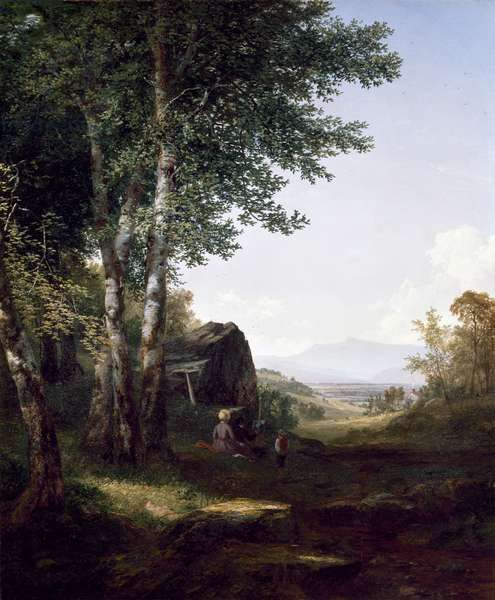 A View of Mansfield Mountain, 1849 (oil on canvas)