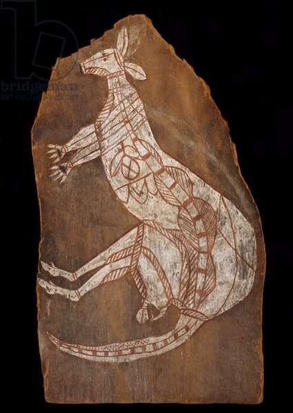 Kangaroo, Arnhem Land, Northern Territory, Australia, c.1950s (paint on bark)